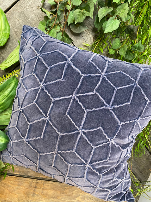 Giftware - Navy Pillow with Raised Stitching