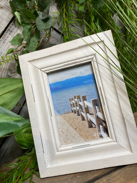 Giftware - 4X6 White Wood Frame