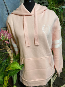 Brunette The Label - Pink Hoodie with Front Pocket