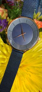 Watch - Blue & Rose Gold