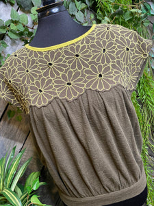 Free People - Short Sleeve Shirt in Olive