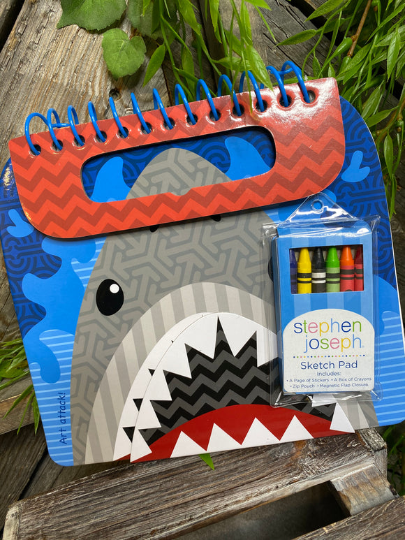 Toys - Shark Sketch Pad with Crayons
