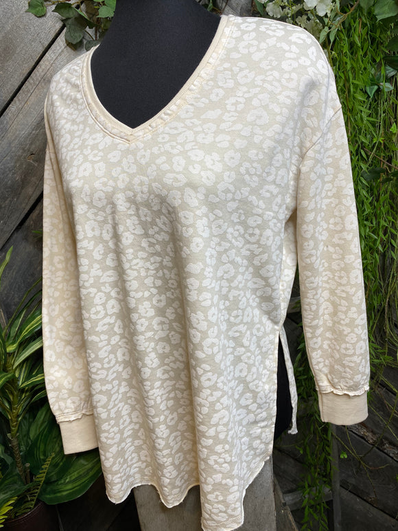 Z Supply - Animal Print Top in Cream