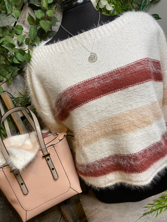 Gentle Fawn - Cambria Sweater in Clay Stripe