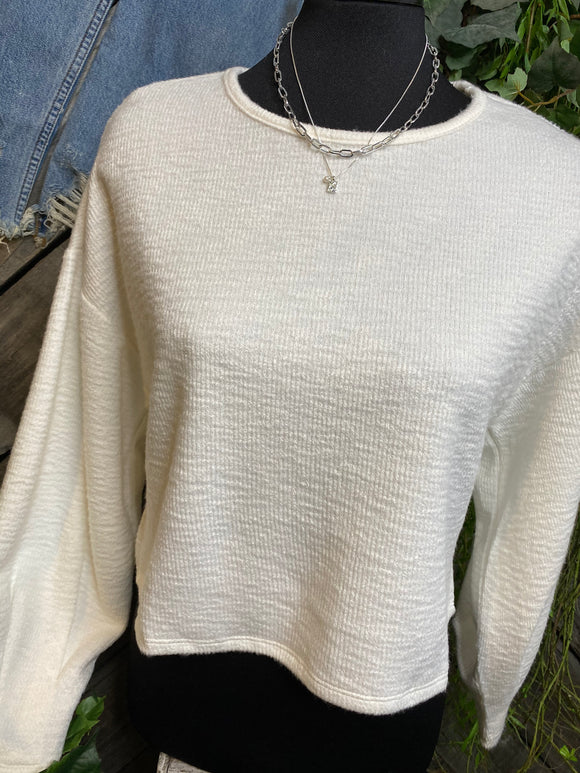 Sadie & Sage - Long Sleeve Sweater in Cream