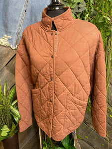 Z Supply - Quilted Jacket in Rust