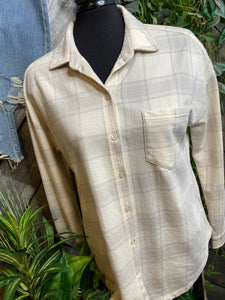 Z Supply - Long Sleeve Plaid Shirt in Tan