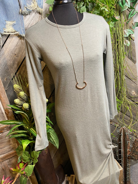 Z Supply - Long Dress in Sage Green