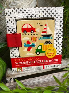 "Baby Boutique - Wooden ""Things That Go"" Stroller Book"