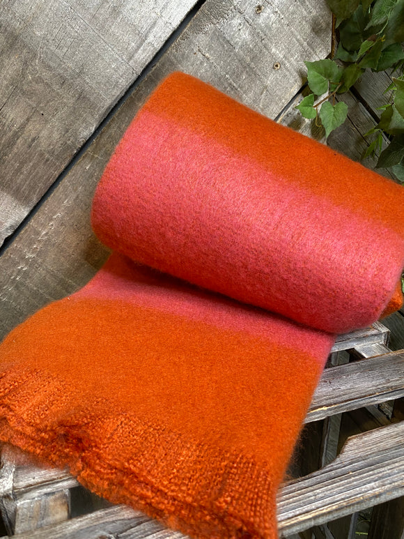 Winter Accessories - Striped Scarf in Pink/Orange