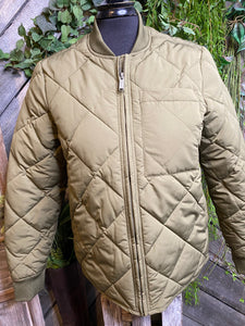 Frank & Oak - Diamond Pattern Puffy Jacket in Green