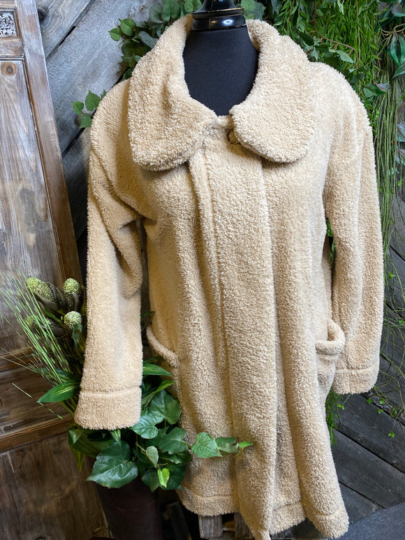 Paper Label - Fuzzy Jacket in Fawn