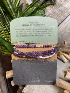 "Scout Curated Wears - Amethyst ""Stone of Protection"" Necklace or Bracelet"