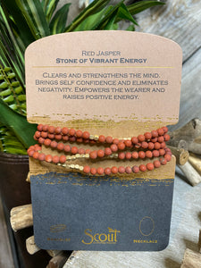 "Jewelry - Scout Curated Wears - Red Jasper ""Stone of Vibrant Energy"" Necklace or Bracelet"