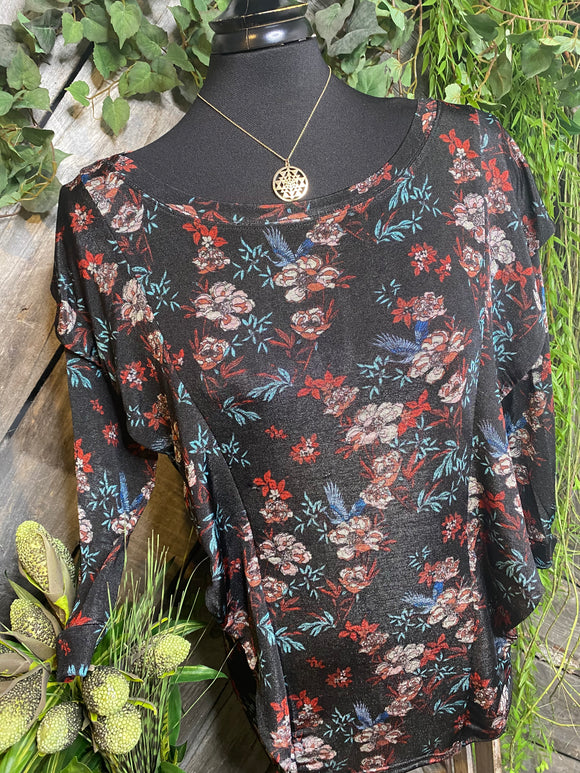 Blowout Sale - FP Blouse in Flowered Print