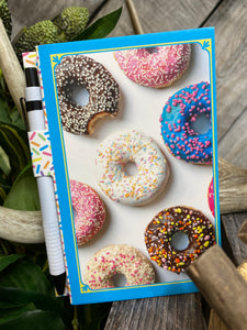 Giftware - Note Pads With Pen in Donuts