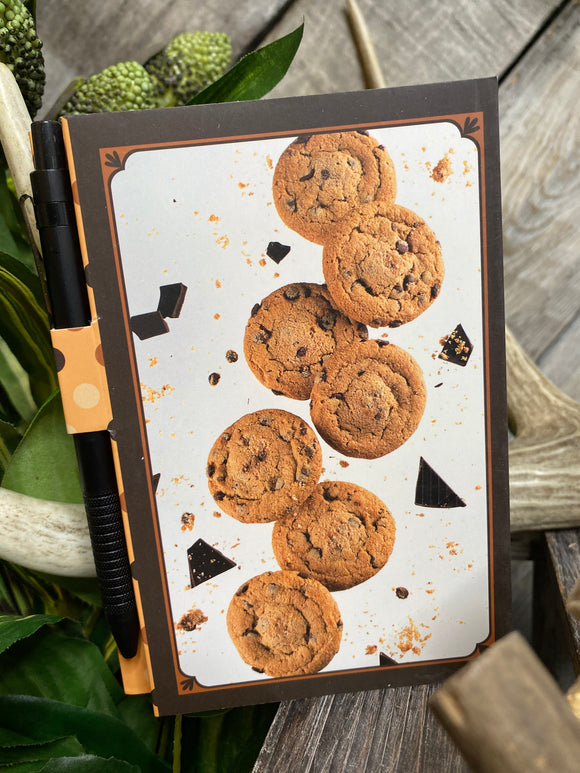 Giftware - Note Pads With Pen in Chocolate Cookies