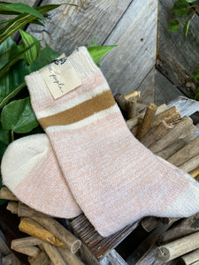 Self Care - Free People Socks in Blush Combo
