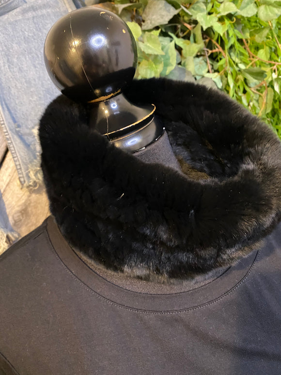 Blowout Sale - Linda Richards New York Fur Scarf in Black
