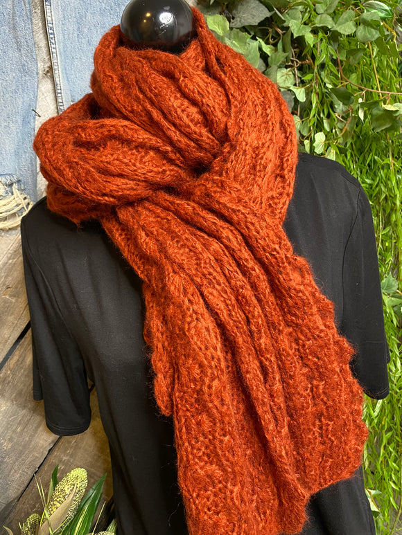 Blowout Sale - Scarf in Burnt Orange/Rust