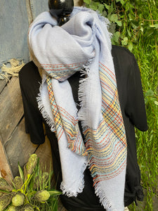 Blowout Sale - Scarf in Blue/Red /Navy/Yellow Stripes