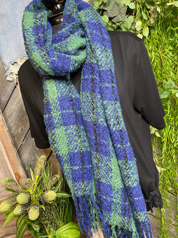 Blowout Sale - Free People Scarf in Green/Blue Pattern