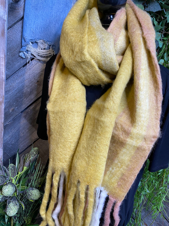Winter Accessories - Indaba Shades of Mustard Scarf
