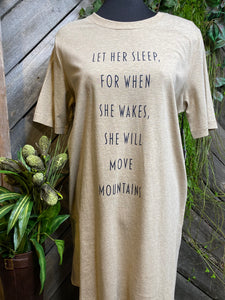 "Self Care - Nighty in Beige ""Let Her Sleep For When She Wakes......."""
