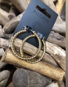 Pilgrim - Gold Hoop Earrings