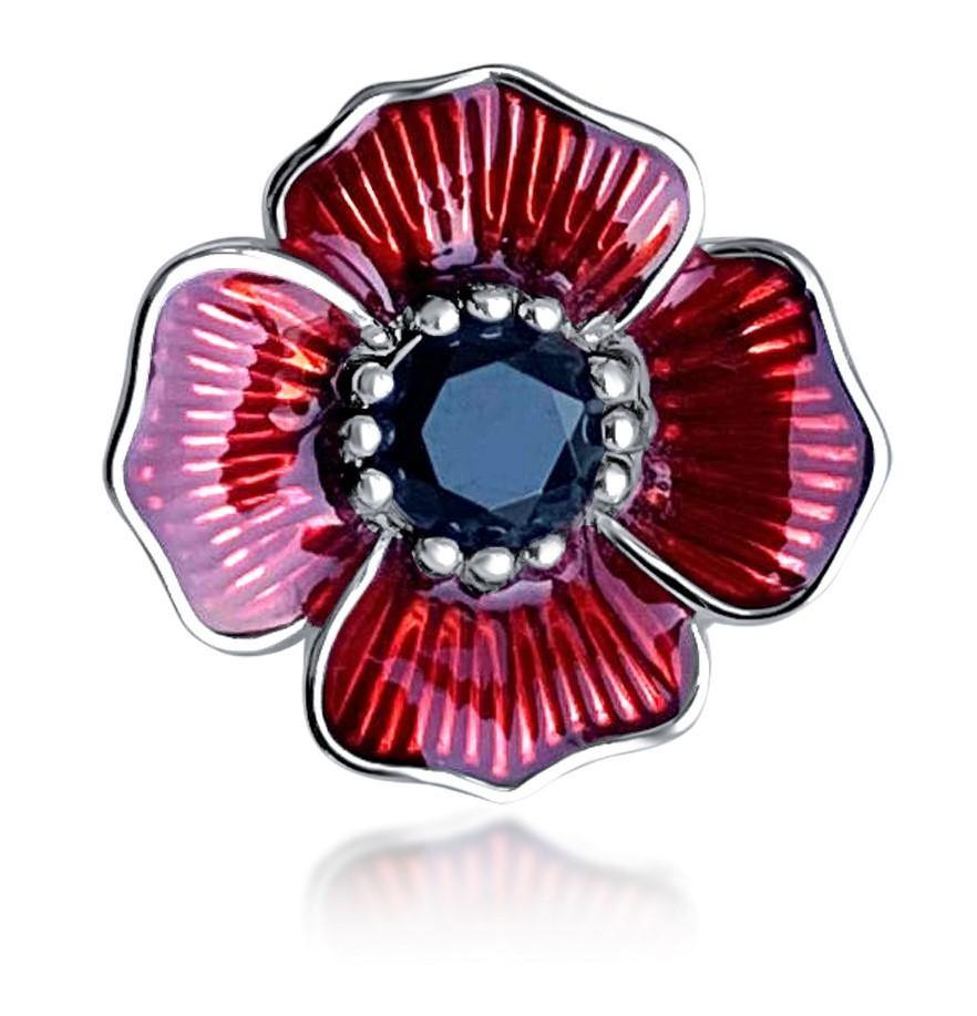 Remembrance Day Poppy Charms, Brooches, Earrings and Necklaces - Chatteriz