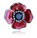Poppy Brooch and Earrings Gift Set