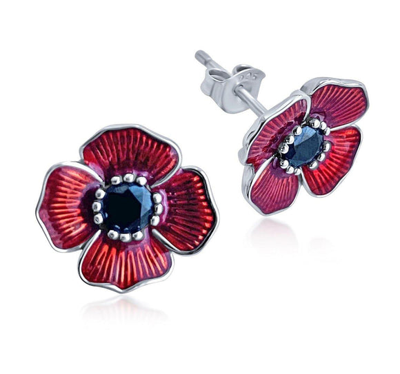 Poppy Charm and Earrings Gift Set