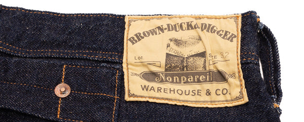 The Devil in the Detail: 001 (Warehouse Brown-Duck & Digger Nonpareil Overall Jean (Rinsed)