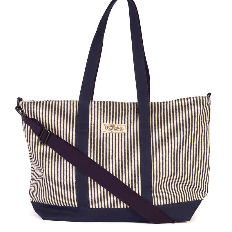Freewheelers 2027010 'Rattler' Bag (Indigo Hickory Stripe)