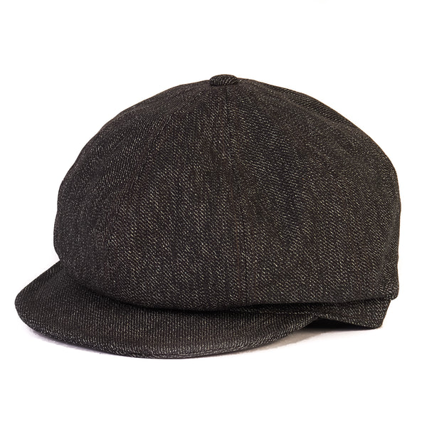 Freewheelers 2027014 Jam Buster Flat Cap (Grained Black)