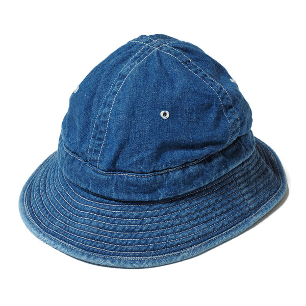 Warehouse Brown-Duck Digger 5200 Daisy Mae Denim Hat (Used Wash)