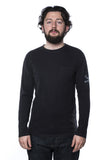 Jungmaven Side Print LS Pocket T-Shirt Black
