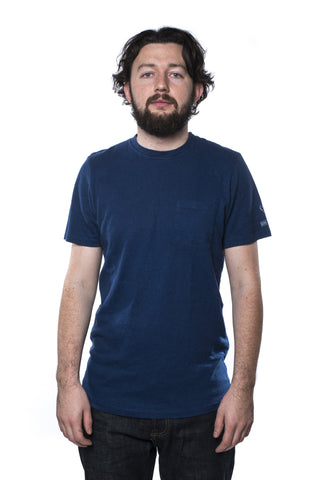 Jungmaven Side Print Pocket T-Shirt Indigo