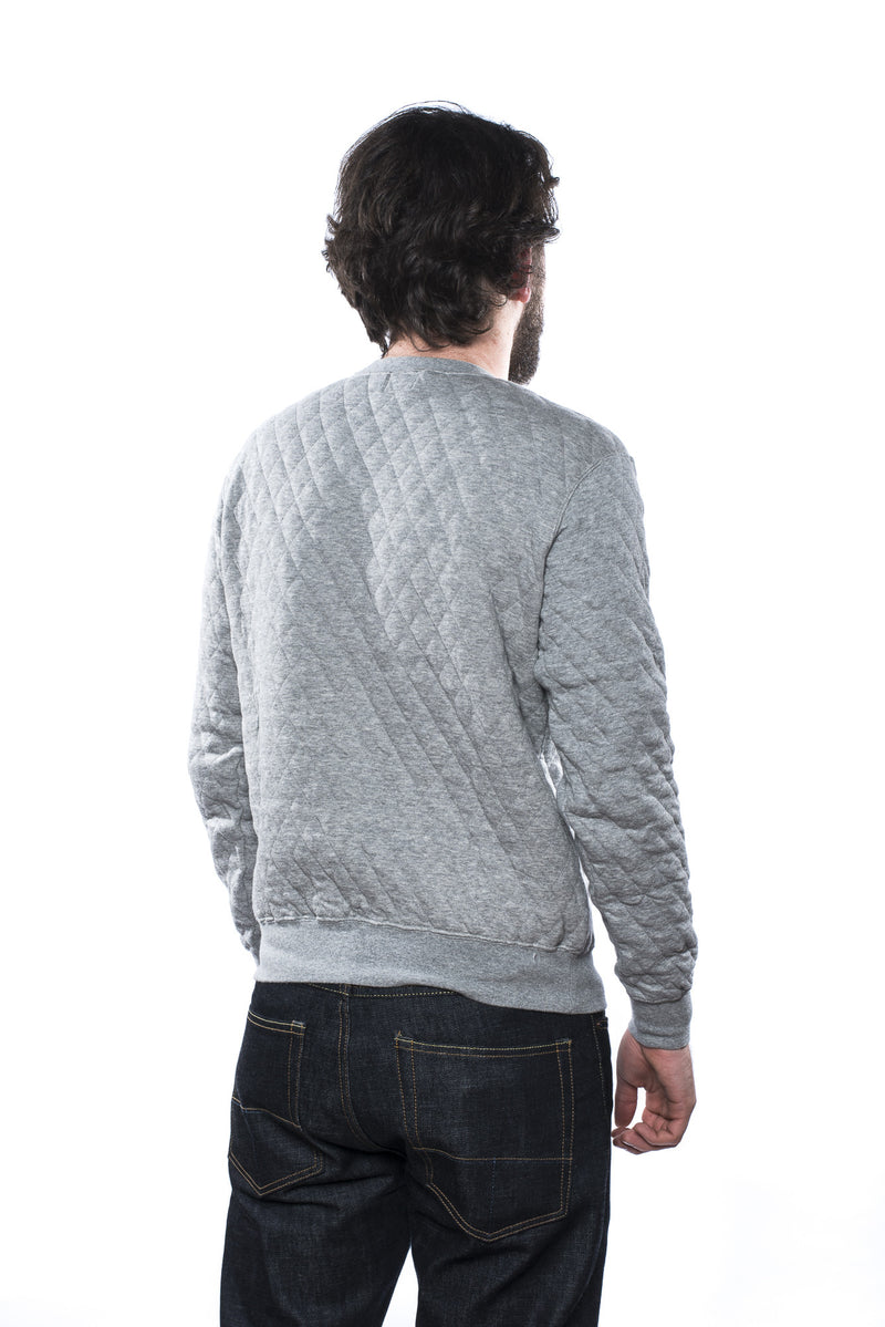Pherrow's 15W-PQVS1 Quilted Sweatshirt Grey