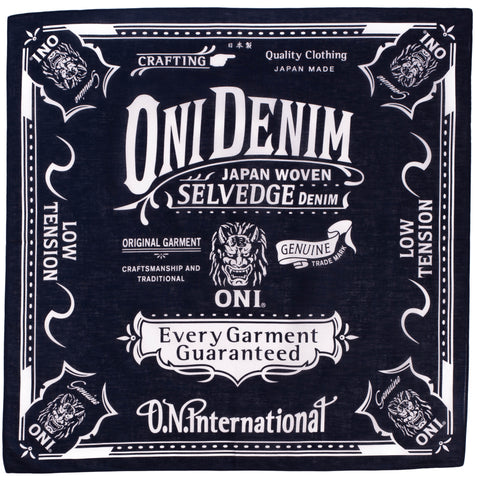 Oni Denim Branded Bandana (Navy)