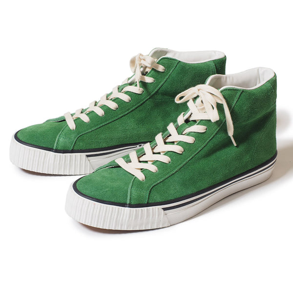 Warehouse 3401 High Top Suede Sneaker (Green)