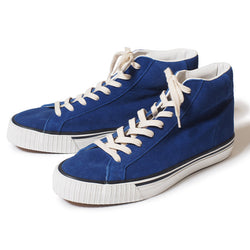 Warehouse 3401 High Top Suede Sneaker (Blue)