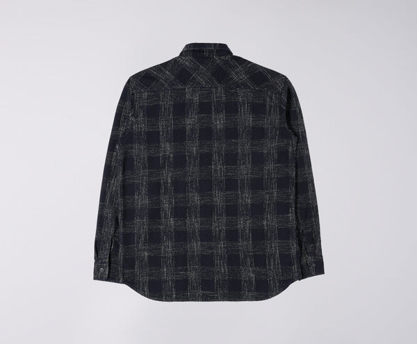 Edwin Labour Shirt (French Indigo Slub Checks)