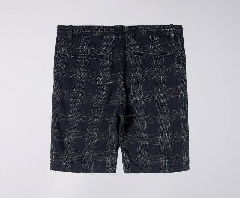 Edwin Boardwalk Short (French Indigo Slub Checks)