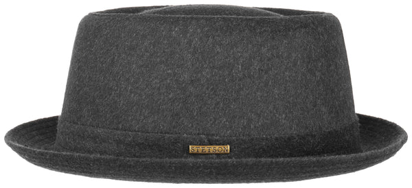 Stetson 1690102-3 Wool Pork Pie Hat (Charcoal)