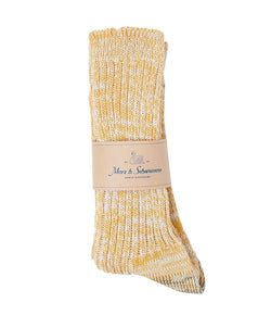 Merz b. Schwanen 271 Cotton Socks (Yellow Melange)