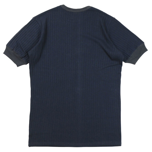 Freewheelers 2025022 Broad Rib Tee (Charcoal Navy)