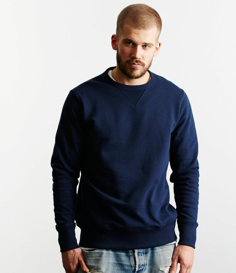 Merz b. Schwanen 346 Crew Neck Sweatshirt (Ink Blue)