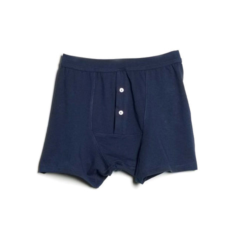 Merz b. Schwanen 255 Button Facing Underpants (Ink Blue)
