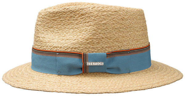 Stetson 2498520 Smith Raffia Hat (Light Blue)
